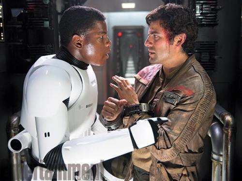 John Boyega Oscar Issac Star Wars The Force Awakens Entertainment Weekly