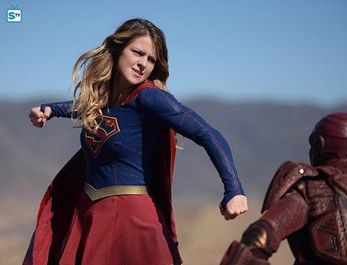 Melissa Benoist Iddo Goldberg Supergirl Red Faced