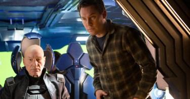 Patrick Stewart Simon Kinberg X-Men Days of Future Past Set