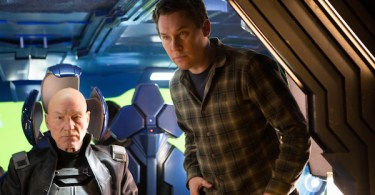 Patrick Stewart Simon Kinberg X-Men Days of Future Past Set