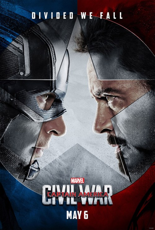 Steve Rogers Tony Stark Captain America Civil War Movie Poster