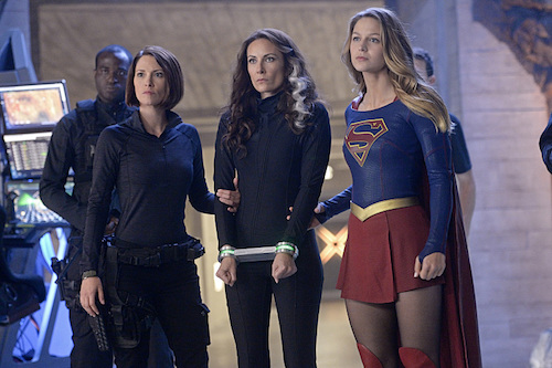 Chyler Leigh Laura Benanti Melissa Benoist Supergirl Blood Bonds