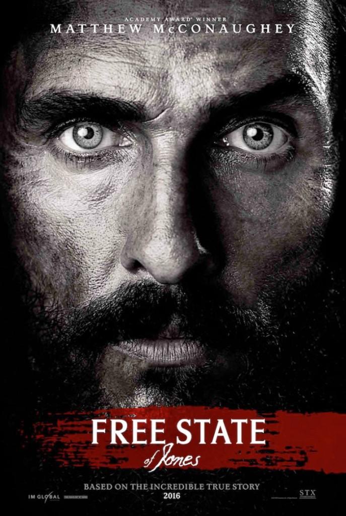 Matthew McConaughey Free State of Jones Poster