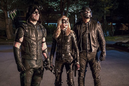 Stephen Amell Katie Cassidy David Ramsey Unchained Arrow