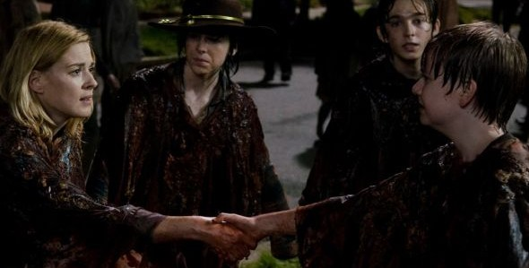 Alexandra Breckenridge Major Dodson Chandler Riggs Austin Abrams The Walking Dead No Way Out