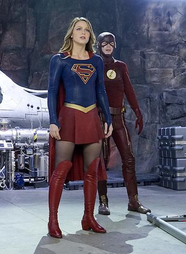 Melissa Benoist Grant Gustin World's Finest Supergirl