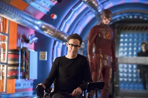 Tom Cavanagh Grant Gustin Flash Back The Flash