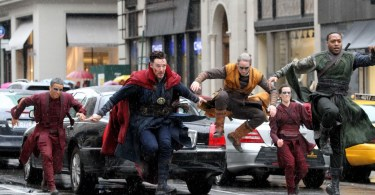 Benedict Cumberbatch Chiwetel Ejiofor Doctor Strange Set