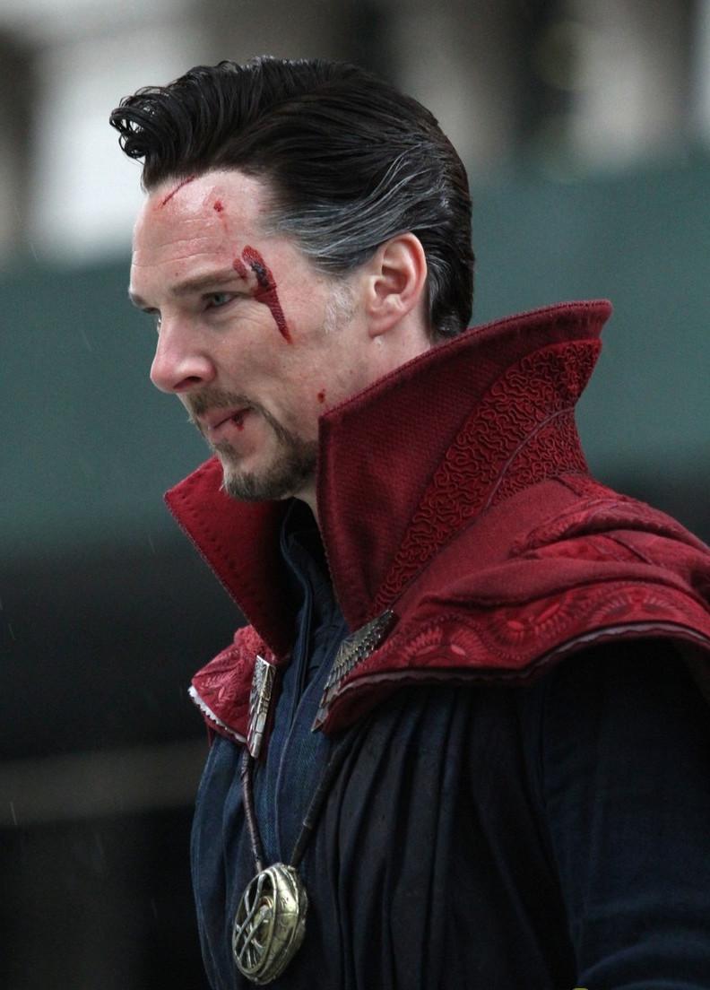 Benedict Cumberbatch Doctor Strange Set