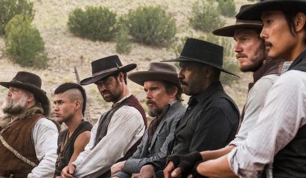 Denzel Washington Chris Pratt Ethan Hawke Vincent D'Onofrio Byung-Hun Lee Manuel Garcia-Rulfo Martin Sensmeier The Magnificent Seven
