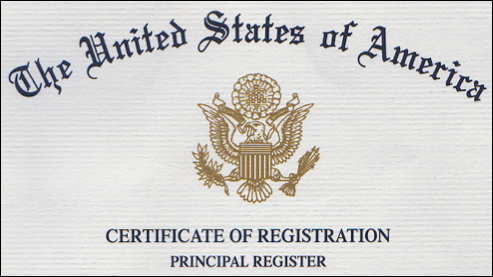 The United States of America Certificate of Registration Principal Register