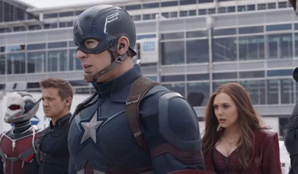 Paul Rudd Jeremy Renner Chris Evans Elizabeth Olsen Captain America Civil War