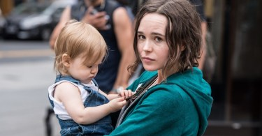 Ellen Page Holding Baby Tallulah