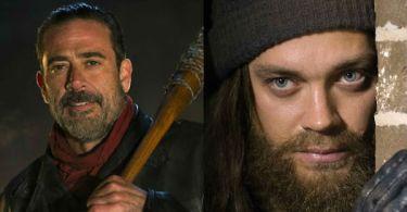 Jeffrey Dean Morgan Tom Payne The Walking Dead Season 6