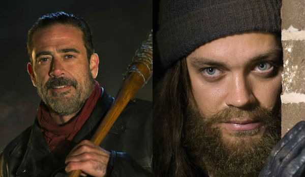 Jeffrey Dean Morgan Tom Payne The Walking Dead Season 6