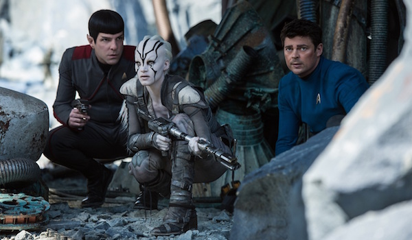 Zachary Quinto Sofia Boutella Karl Urban Star Trek Beyond