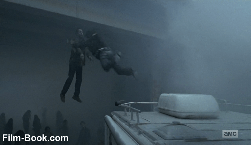 Andrew Lincoln Jumping Off RV The Walking Dead The Day Will Come When You Won't Be
