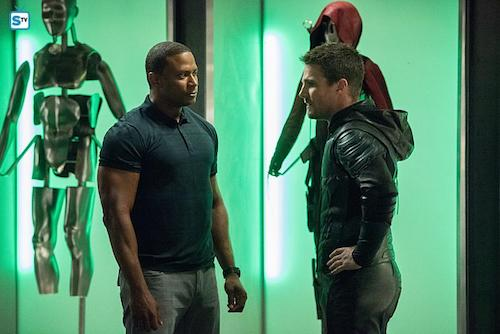 David Ramsey Stephen Amell Human Target Arrow