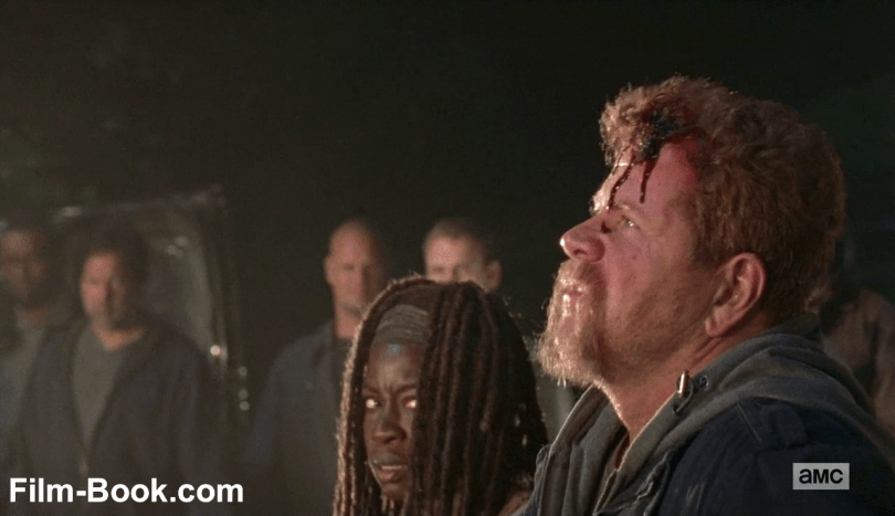 Michael Cudlitz Bleeding Danai Gurira The Walking Dead The Day Will Come When You Won't Be
