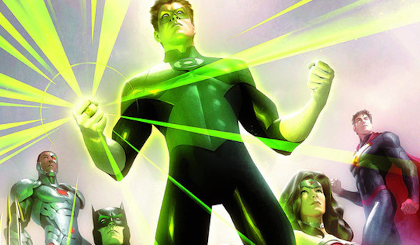 Green Lantern Cyborg Batman Wonder Woman Superman