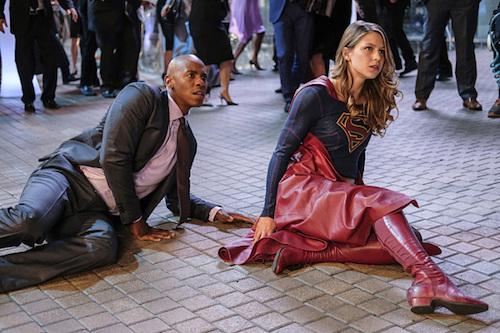 Mehcad Brooks Melissa Benoist Crossfire Supergirl