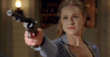 Evan Rachel Wood Holding Six Shooter Westworld The Bicameral Mind