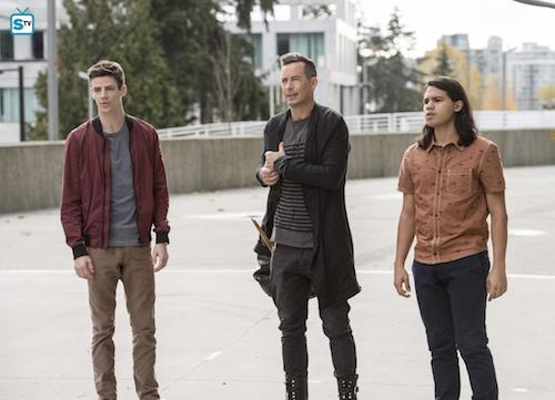 Grant Gustin Tom Cavanagh Carlos Valdes Dead or Alive The Flash