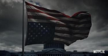 Upside Down United States Flag House of Cards Season 5