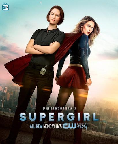 Chyler Leigh Melissa Benoist Supergirl Poster