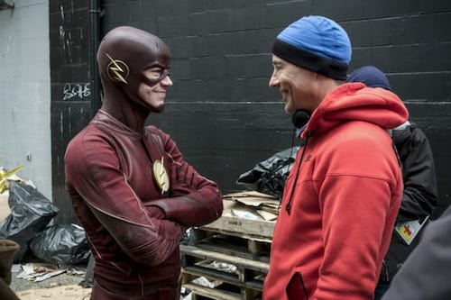 Grant Gustin Tom Cavanagh The Once and Future Flash The Flash