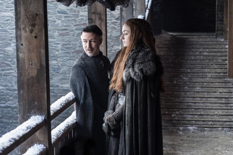 Sophie Tuner Aidan Gillan Games of Thrones: Season 7
