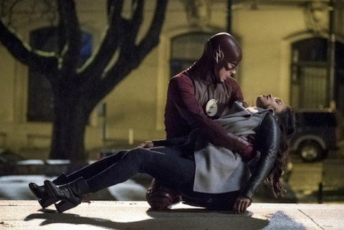 Grant Gustin Candice Patton Finish Line The Flash
