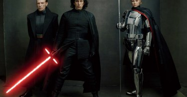 Gwendoline Christie Adam Driver Domhnall Gleeson Star Wars: The Last Jedi Vanity Fair