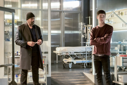 Jesse L. Martin Grant Gustin Finish Line The Flash