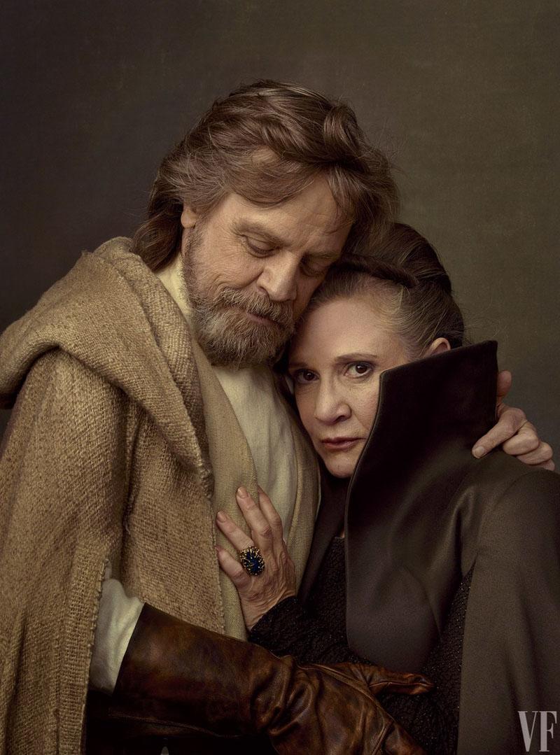 Mark Hamill Carrie Fisher Star Wars: The Last Jedi Vanity Fair