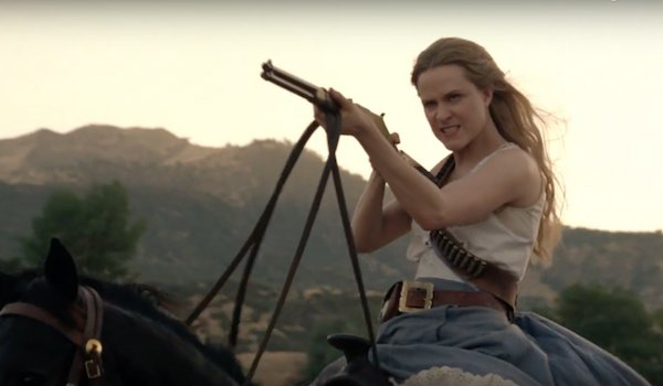 Evan Rachel Wood HOrseback Westworld: Season 2