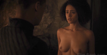Nathalie Emmanuel Tits Game of Thrones Stormborn