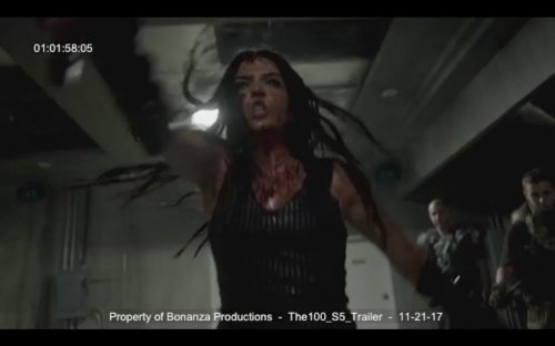 Marie Avgeropoulos Bloody The 100 Season 5