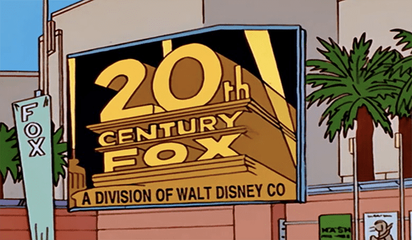 The Simpsons Fox Disney