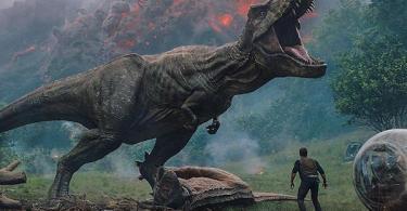 Chris Pratt T-rex Jurassic World: Fallen Kingdom