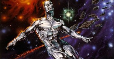 Silver Surfer in Outer Space