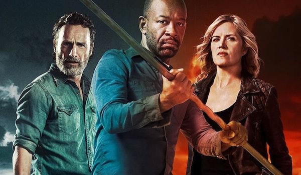 The Walking Dead Season 8 Finale Fear the Walking Dead Season 4 Crossover TV Show Poster