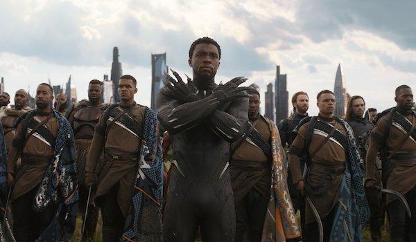 Chadwick Boseman Chris Evan Avengers Infinity War