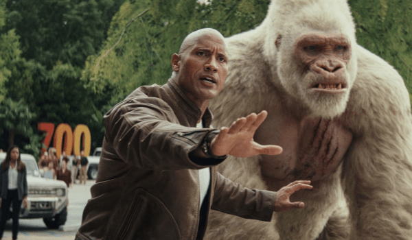 Dwayne Johnson Naomie Harris Rampage