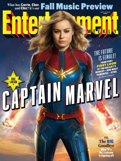 Captain Marvel Cover Entertainment Weekly September 2018