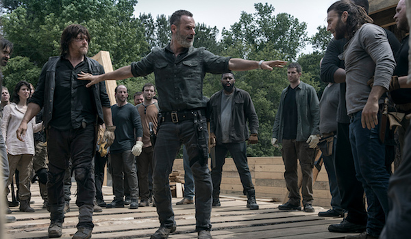 Andrew Lincoln Norman Reedus Zach McGowan The Walking Dead The Bridge