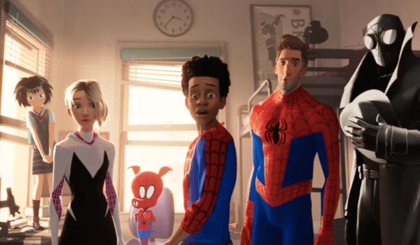 Six Spider-Men Spider-Man Into the Spider-Verse