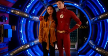 Grant Gustin and Candice Patton The Flash The Flash & The Furious