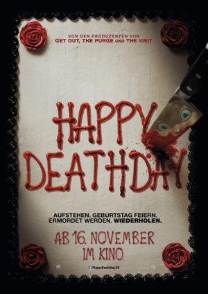 Happy Deathday - Poster   Eine Frau erlebt ihren Todestag immer und immer wieder