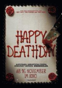Happy Deathday - Poster | Eine Frau erlebt ihren Todestag immer und immer wieder